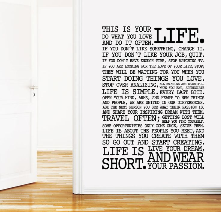 41 best palabras words images on pinterest wall decal for Vinilos decorativos textos