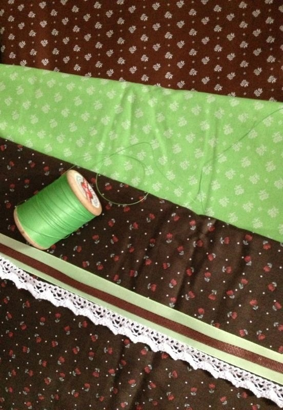 Wild green and brown. Wild and natural. Dirndl fabric