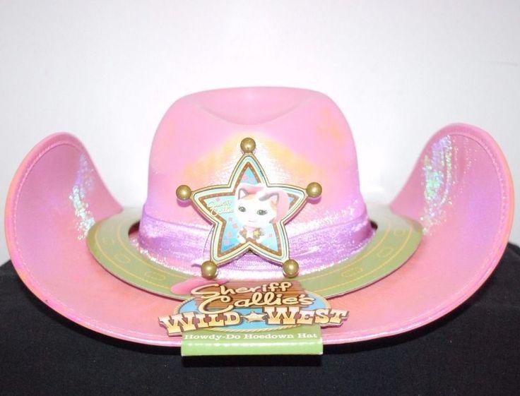 DISNEY JUNIOR SHERIFF CALLIES WILD WEST HALLOWEEN COSTUME PINK COW GIRL HAT #Disney