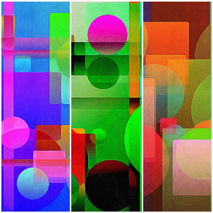 """There's no doubt about it, certain colours elicit certain feelings. Bright and happy colours trigger a dollop of dopamine into your system! Dopamine is the """"feel good"""" chemical. It can be quite addictive. Colours like those in this """"triple happy triptych"""" will act as a """"pick me up"""". Just take a moment to take in the colours. I'm releasing three different shapes."""