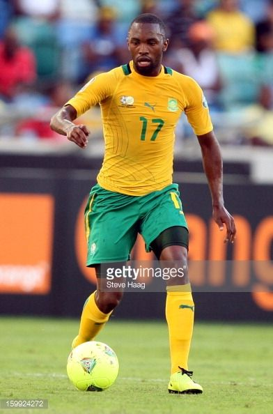 Bernard Parker of South Africa during the 2013 African Cup of Nations match between South Africa and Angola at Moses Mahbida Stadium on January 23...
