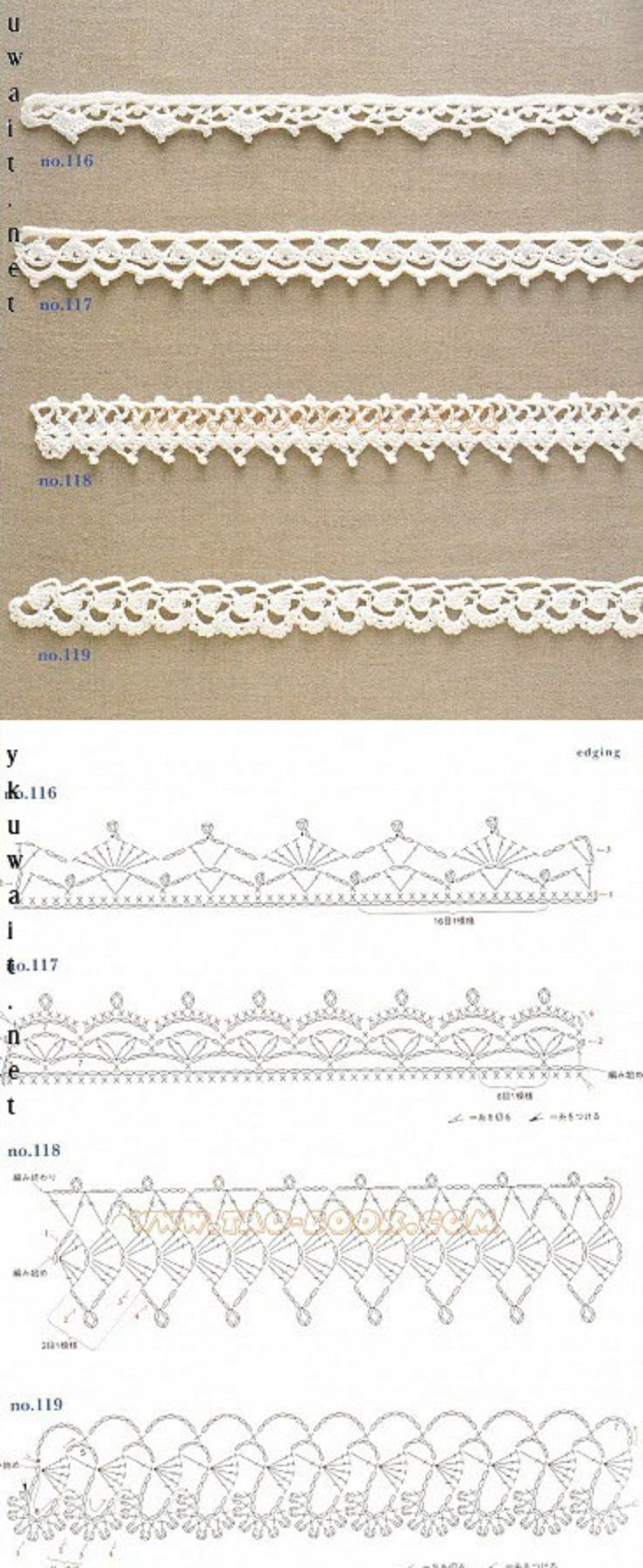 #_Crochet Edgings and diagrams.