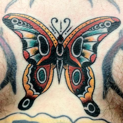 25 best ideas about traditional butterfly tattoo on