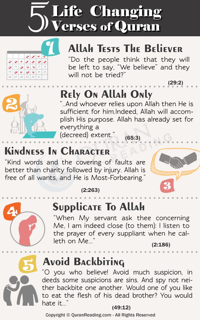 Ayahs of Quran that  change the life of Muslims