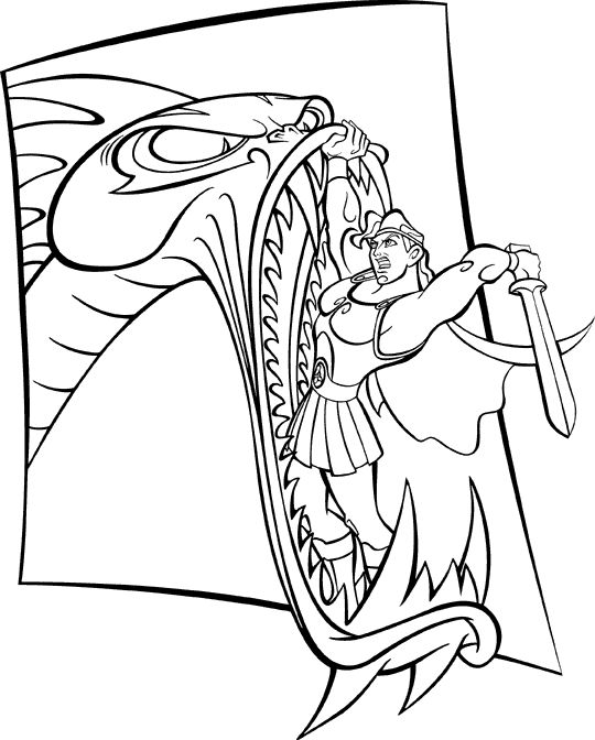 15 best Hercules ~ Disney Coloring Pages images on Pinterest ...