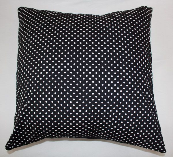 Black and white polka dot cushion. Link in comments.