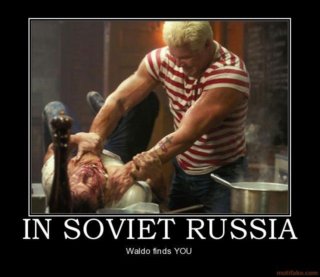 In Soviet Russia, Waldo Finds You