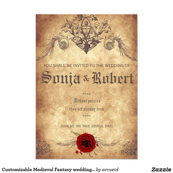42 best medieval wedding images on pinterest medieval wedding customizable medieval fantasy wedding invitation stopboris Image collections