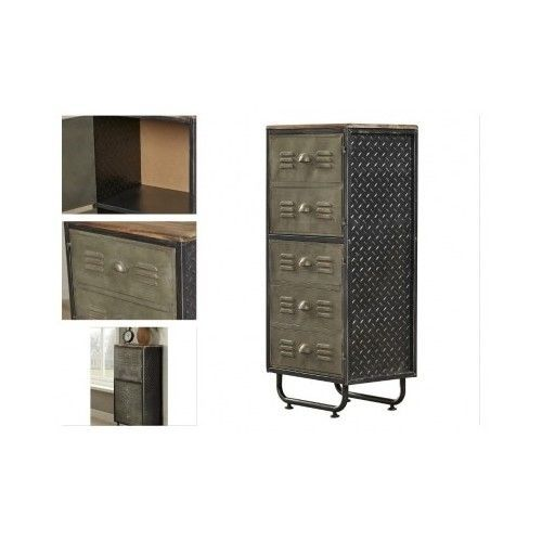 Industrial-Metal-Bookcase-Bookshelf-Home-Office-Furniture-Cabinet-Armoire-Modern