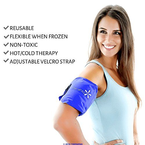 """Pain Relief Ice Pack with Strap for Hot & Cold Therapy - Reusable Gel Pack for Injuries 