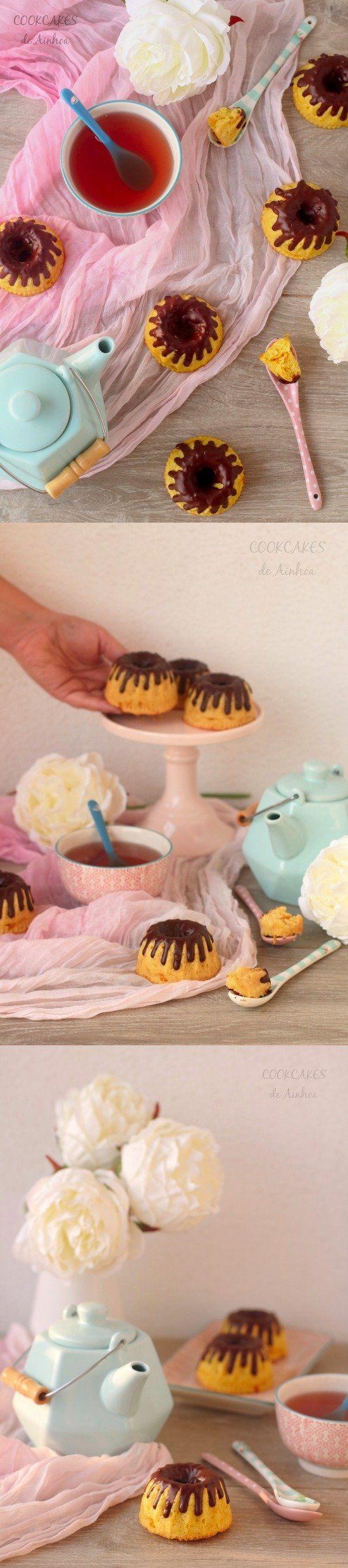 Esponjosos mini bizcochos de mango con chocolate / http://cookcakesdeainhoa.blogspot.com.es/