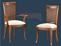 Silla y sillón clásicos 16 - Madera maciza alta calidad