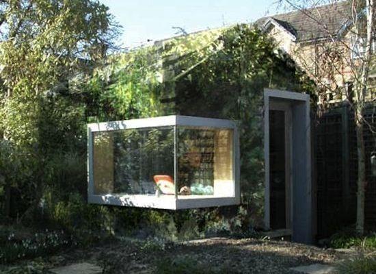 105 best images about garden office on pinterest micro for Corner garden office