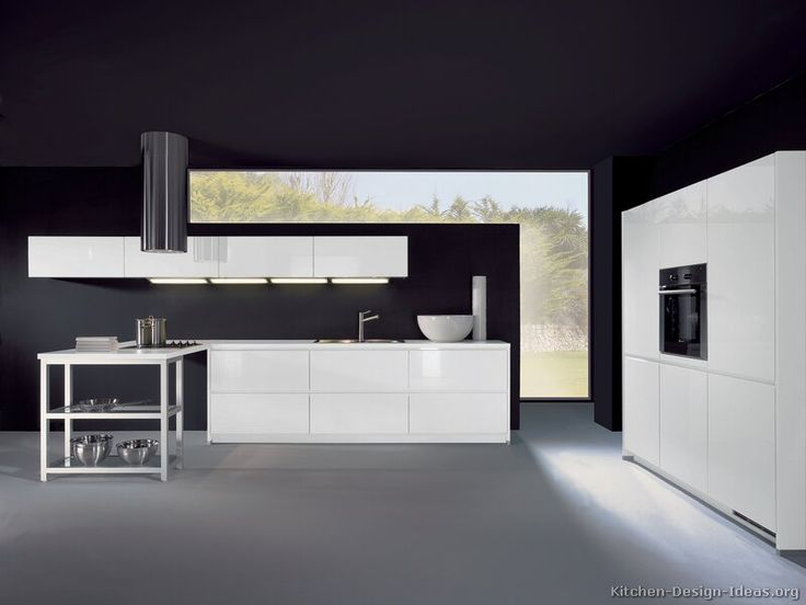 Idea Of The Day: Modern White Kitchen With Black Walls. (By ALNO, AG).