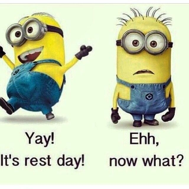Yay! It's rest day! Ehh, now what?