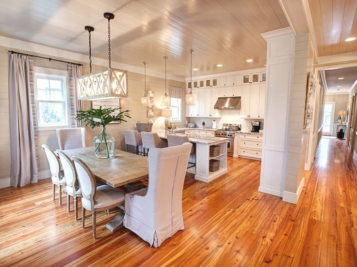 Neutral kitchen and dining room in a WaterColor Vacation Rental - VRBO 449674 - 4 BR Beaches of South Walton Cottage in FL, 'Siena by the Sea' Watercolor Glamour, Newly ...