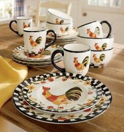 Decorating with Plates from Through the Country Door® & 61 best Rooster Dinnerware images on Pinterest | Roosters Dinner ...