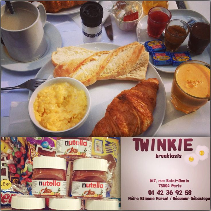 Ou bruncher ? Ou se régaler a petit prix ?  J'ai adoré Twinkie, 15euros Brunch Français: 1 boisson chaude, 1 jus de fruit frais, 1 viennoiserie, 2 tartines de pain et ses petites confitures et 2 œufs coques et tout ça bio ou/et fait maison MiamMiam#brunch#paris#pascher#croissant#déjeuner#branché#delicieux#matin#bio#maison
