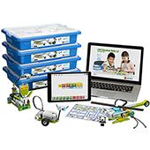 LEGO  WeDo 2.0 ReadyGo Classroom Packs - Lego launched WeDo 2.0, a robotics educational kit for kids in elementary school. It combines the fun of the Lego-building process with simple logic programming. With this, Lego is advancing its participation in STEM education after the NXT Mindstorms kit.  Kit has all the pieces, sensors, and motors you will need, along with freely downloadable software that works on iPad, Android, Windows and Mac. The software is easy enough for kids