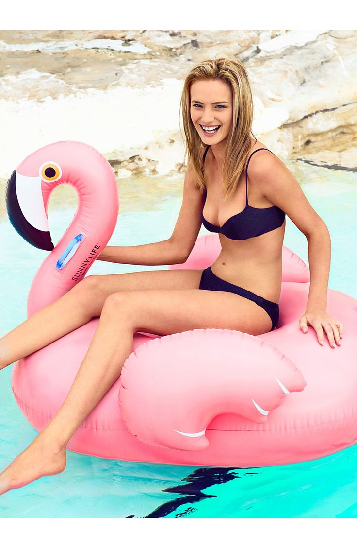 Summer fun | Inflatable flamingo pool toy.