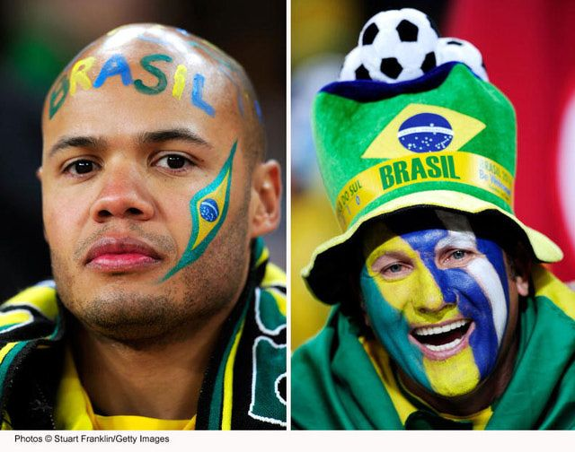 Get ideas and inspiration in this photo gallery of flag face painting designs.