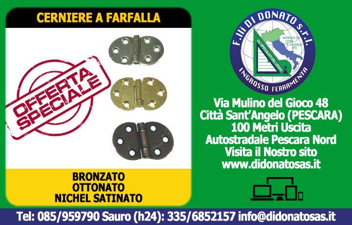F.lli Di Donato | Scopri le Cerniere a Farfalla a 6 Fori