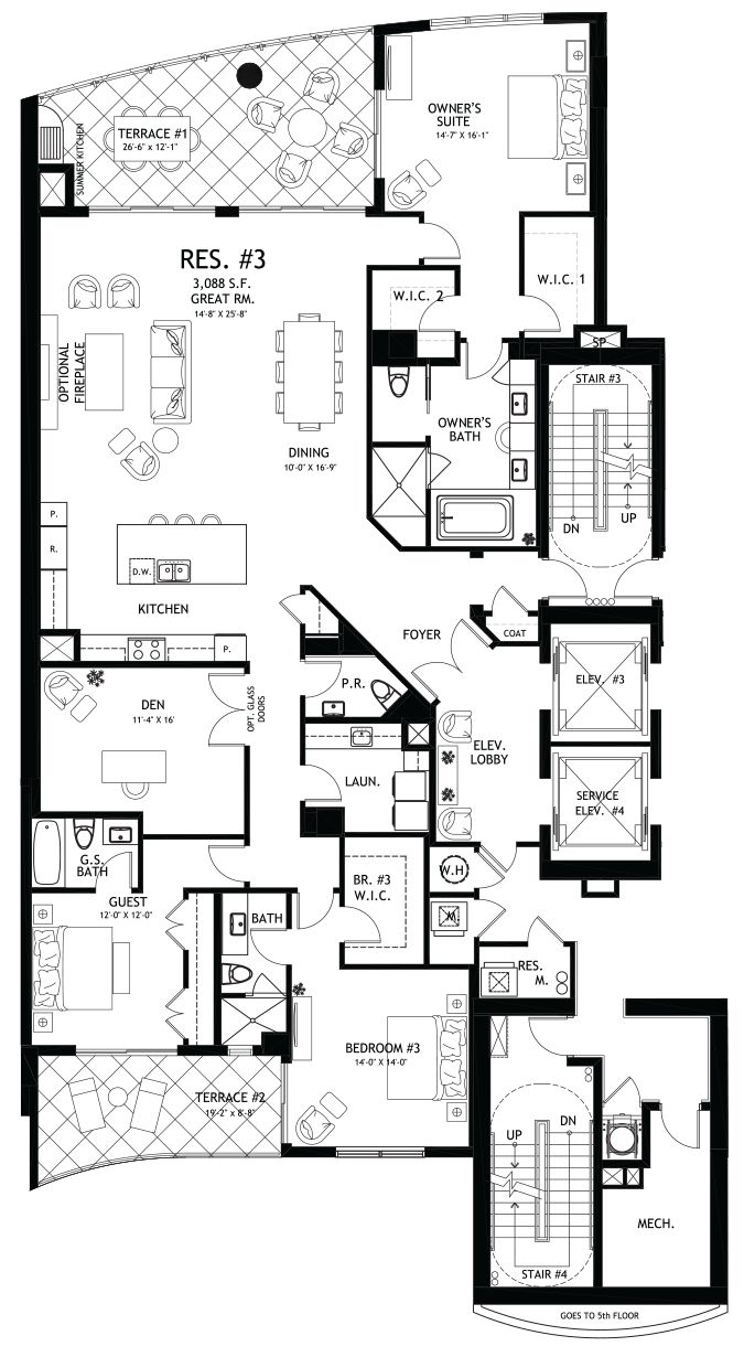1000 images about home floorplans condos on pinterest for Condo floor plan