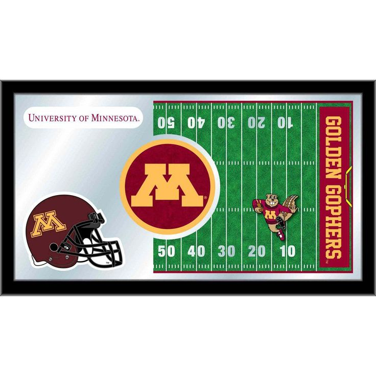 Minnesota Golden Gophers Football Field Wall Mirror