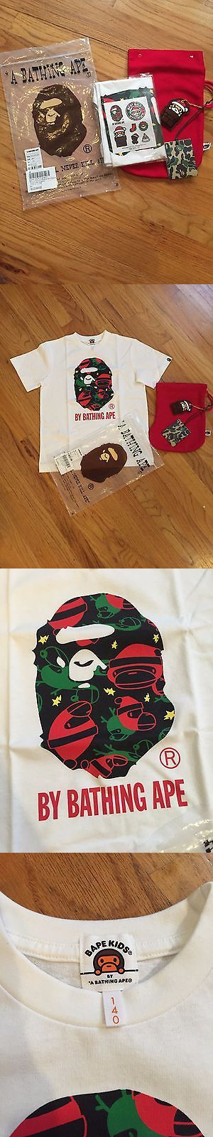 Tops and T-Shirts 155199: A Bathing Ape Bape Kids Christmas Milo Size 140 -> BUY IT NOW ONLY: $79 on eBay!