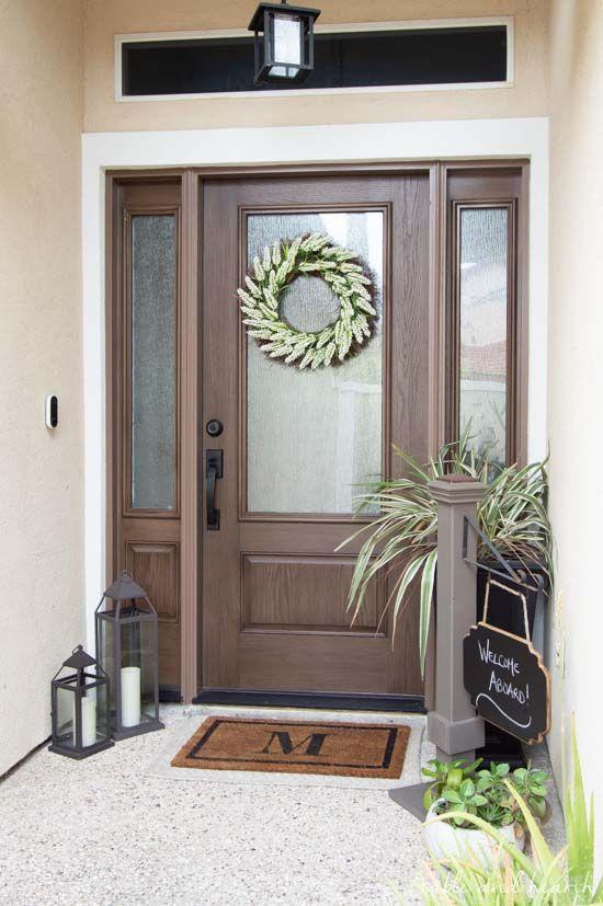 Stunning New Wood Look Fiberglass Door Featuring 3 4 Lite