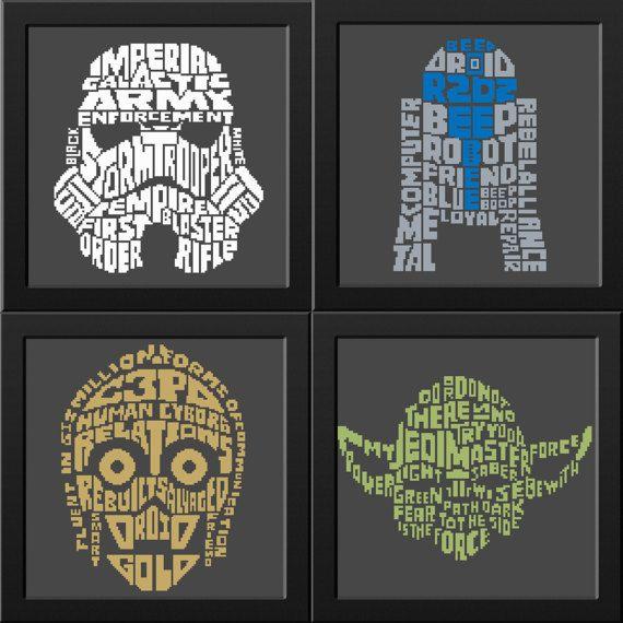 Star Wars Cross Stitch Pattern PDF R2D2 C3Po Yoda by NikkiPattern