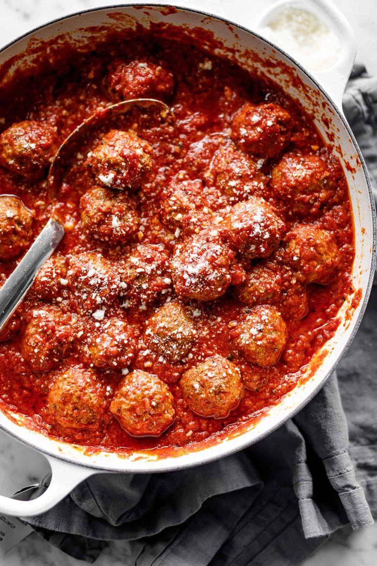 Oven baked meatballs meatballs recipe dinner italian