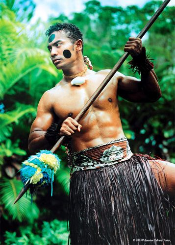 Fijian Dancer at Fijian Village, Polynesian Cultural Center on Oahu