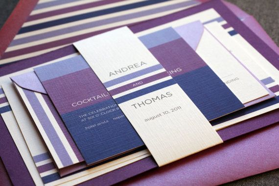 Contemporary Triple Striped Modern Wedding by JulieHananDesign