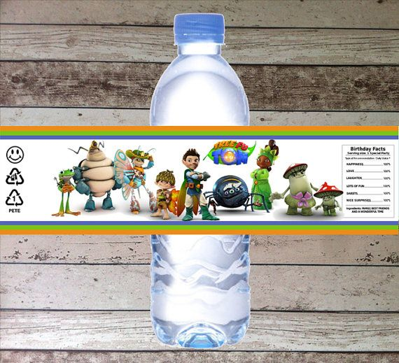 INSTANT DOWNLOAD Tree Fu Tom Printable Birthday Party Water Bottle Label, Digital Pdf File for Tree Fu Tom Party Theme