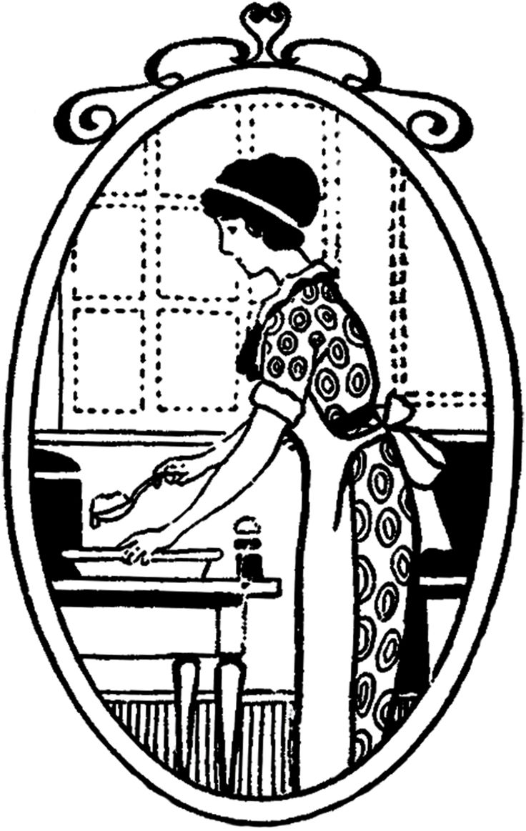 White stuff gateaux apron - Cute Vintage Housewife Cooking Image