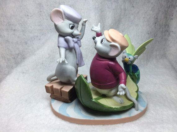 "The Disney Collection, Grolier, Magic Memories ""The Rescuers"" Original Figurine Designed By The Walt Disney Artists, Mint on Etsy, $39.95"