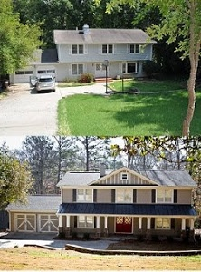 10 Images About Ugly House Makeovers On Pinterest Before After Home Exterior Home