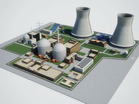 Nuclear Power Plant 3d Model Complete High Detail Nuclear Power Plant Mutliple Textured Buildings With Roof Det Nuclear Power Nuclear Power Plant Power Plant