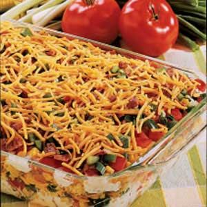Corn Bread Salad -Can add grilled chicken! I use black beans and use less of the beans and corn. Sounds odd but this is a great salad!! - vlrm