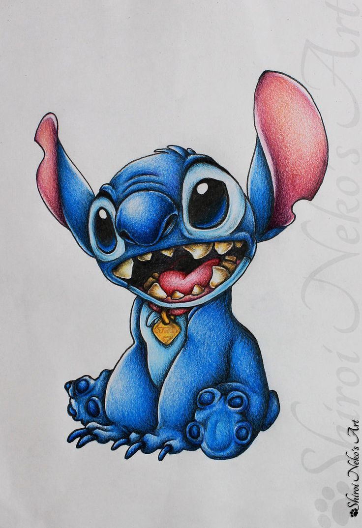Lilo and Stitch Drawing - Stitch by ShiroiNekosArt on ...
