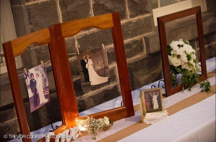 Vintage timber frames, wedding styling Naomi Rose Floral Design
