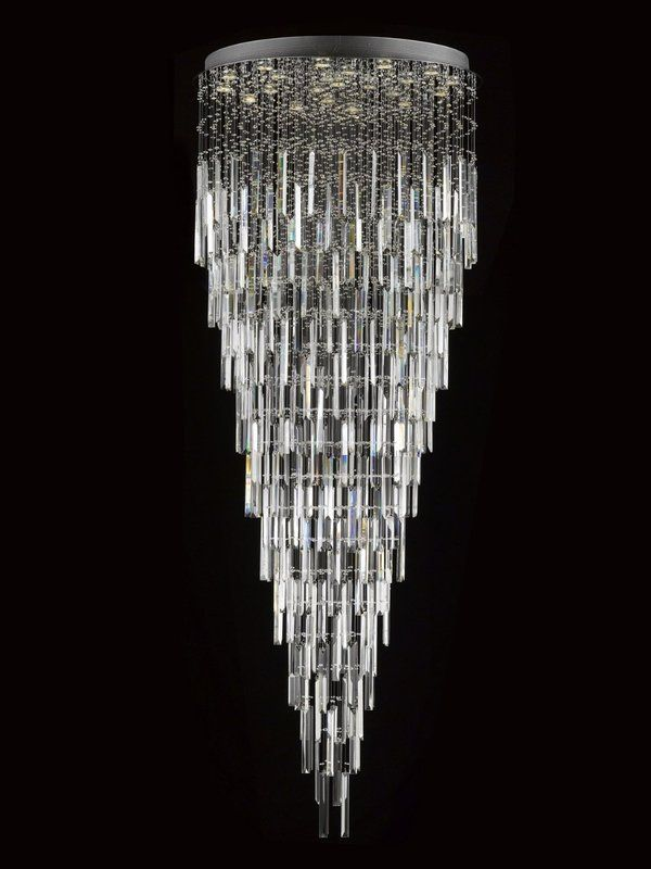 This beautiful chandelier is trimmed with Empress Crystal™ 100% crystal chandelier. A excellent crystal fixture for your foyer, dining room, living room and more! This fixture features beautiful 100% crystals balls that capture and reflect the light. Truly a stunning chandelier, this chandelier is sure to lend a special atmosphere anywhere it is placed. 13 lights. This item also works with energy efficient bulbs, halogen bulbs, compact fluorescent bulbs, led bulbs, etc. (not included).