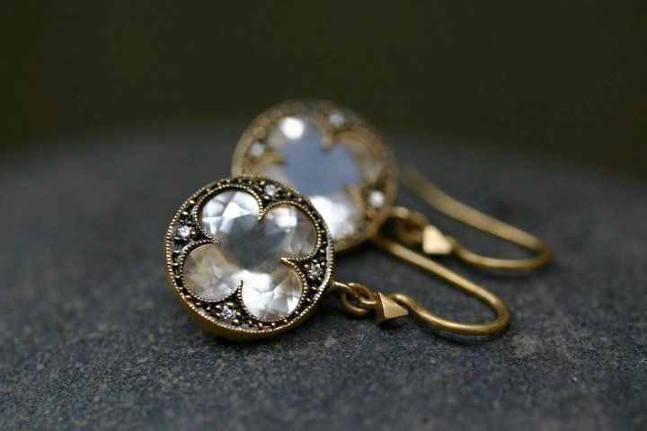 Cathy Waterman Topaz and diamond earrings. Available @ WHITE bIRD Jewellery