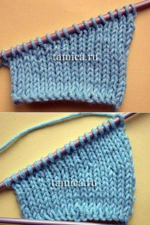 Частичное вязание.