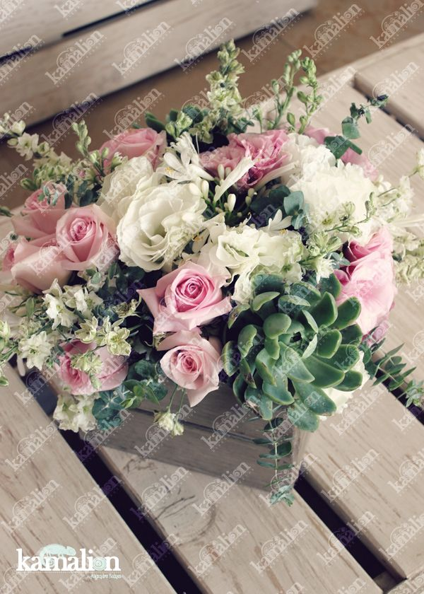 www.kamalion.com.mx - Decoración / Vintage / Rustic / Mint & Pink / Menta & Rosa / Centerpiece / Centros de Mesa / Wedding / Boda / Wood / Madera.