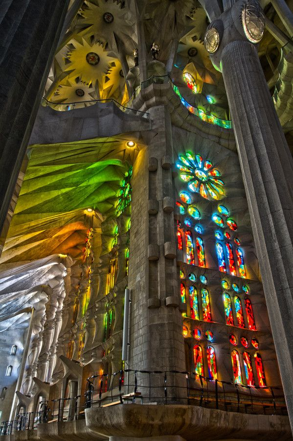 La Sagrada Familia. Antoni Gaudi. Barcelona, Spain. Gaudi started work on the project in 1883. Building still under construction. Estimated completion 2026.
