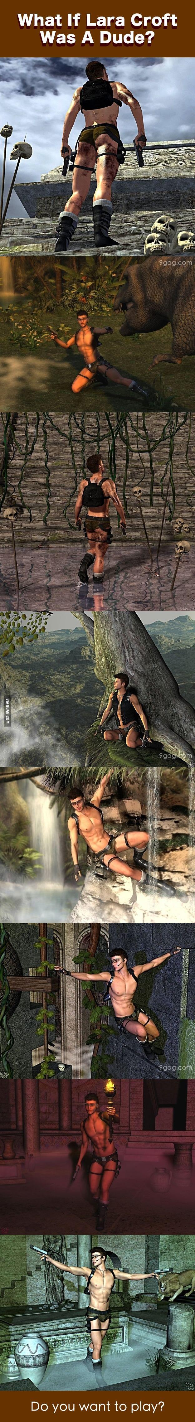 Oh Mr. Lara Croft, how many guns do you have?