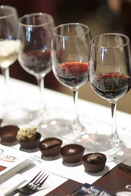 Wine Tasting & Chocolates. Mmm yes, please!!