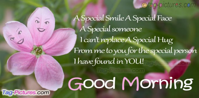 Good Morning Quotes And Sayings For Someone Special: Special Hug On Morning For You
